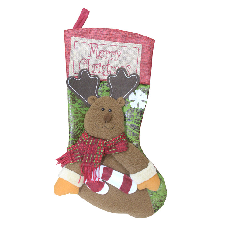 Manufacture Various Christmas Tree Decoration Stocking Christmas Gift Socks Candy Bag
