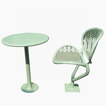 Welded Wire Mesh Outdoor Chair And Table Set Metal Coffee Table