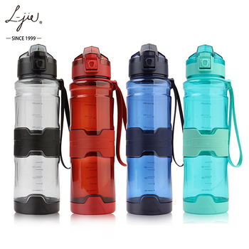 1liter/1000ML jug motivational/time maker outdoors BPA free gym plastic sport water bottle for travel