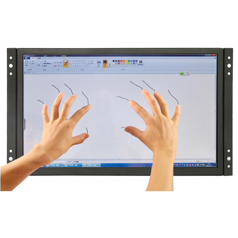 DC12V 11.6 inch industrial touch screen monitor full HD IPS capacitive USB touchscreen monitor