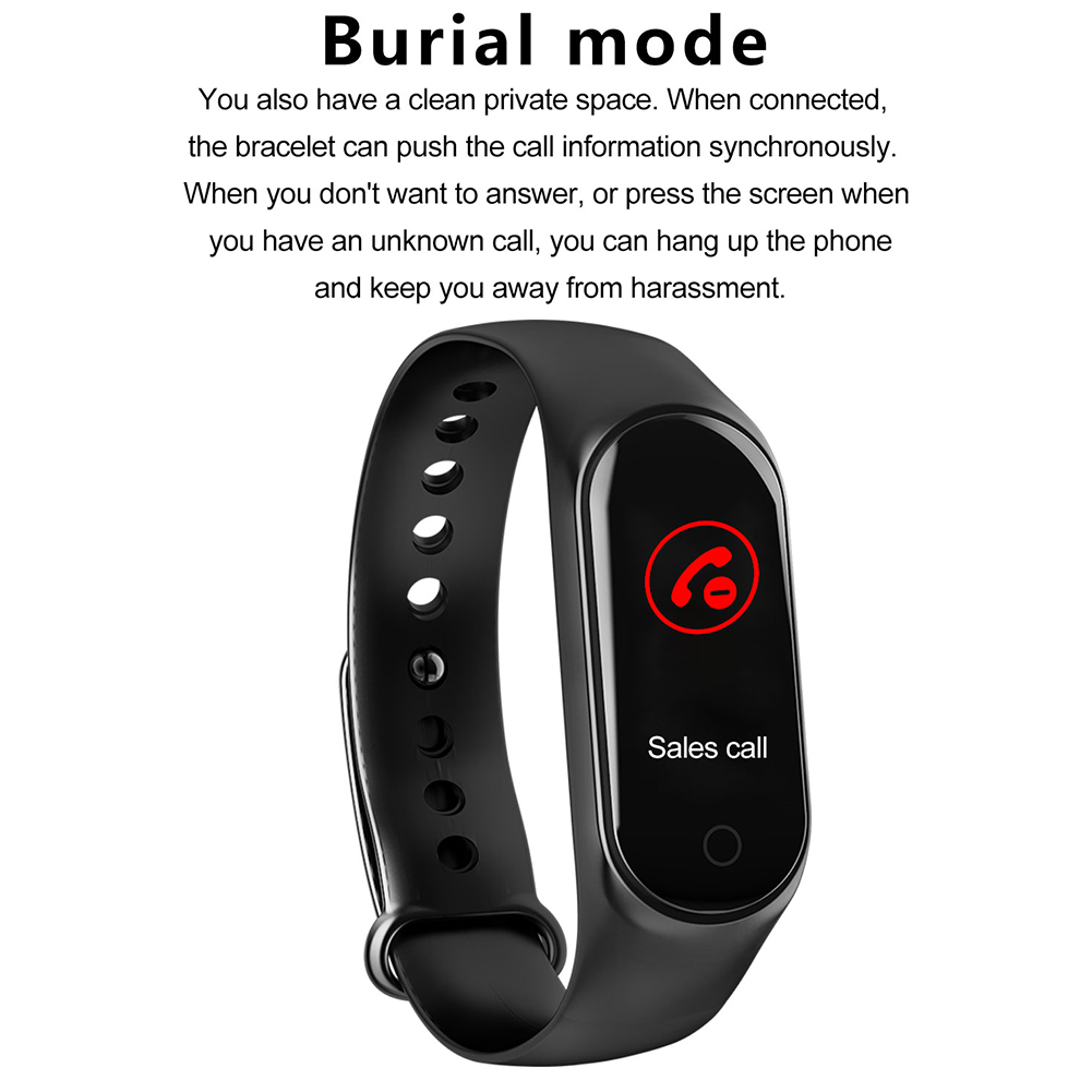 New M4 Fitness Band Tracker Blood Pressure Waterproof Heart Rate BT Health Smart band
