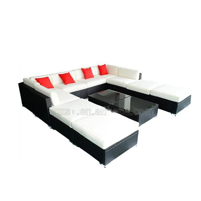 Rattan U Shaped Sofa