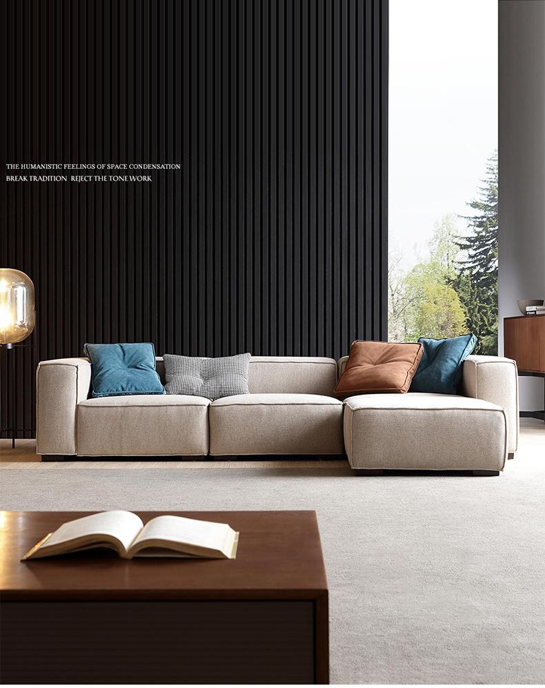 Nordic Fabric Sofa Modern Minimalist