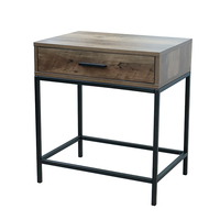 Wholesale price modern bedroom wood night stands bedside table