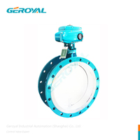 High-temperature Flue Gas Electric Actuator Flange Butterfly Valve WCB 304 316 ON-0FF Regulation 15S 30S