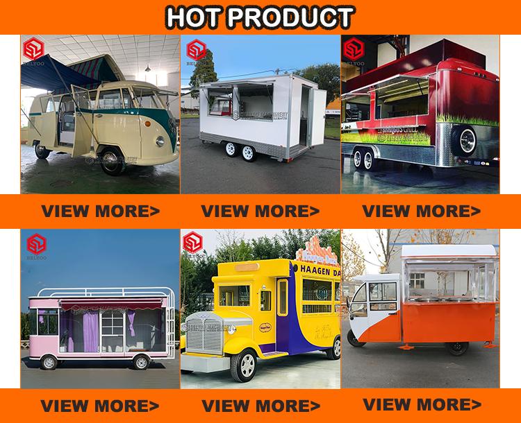 Mobile Pizza Camion Fast Food Chiosco Gelato Beer Bar Hot Dog Cucina Rimorchio Carrello di Cibo
