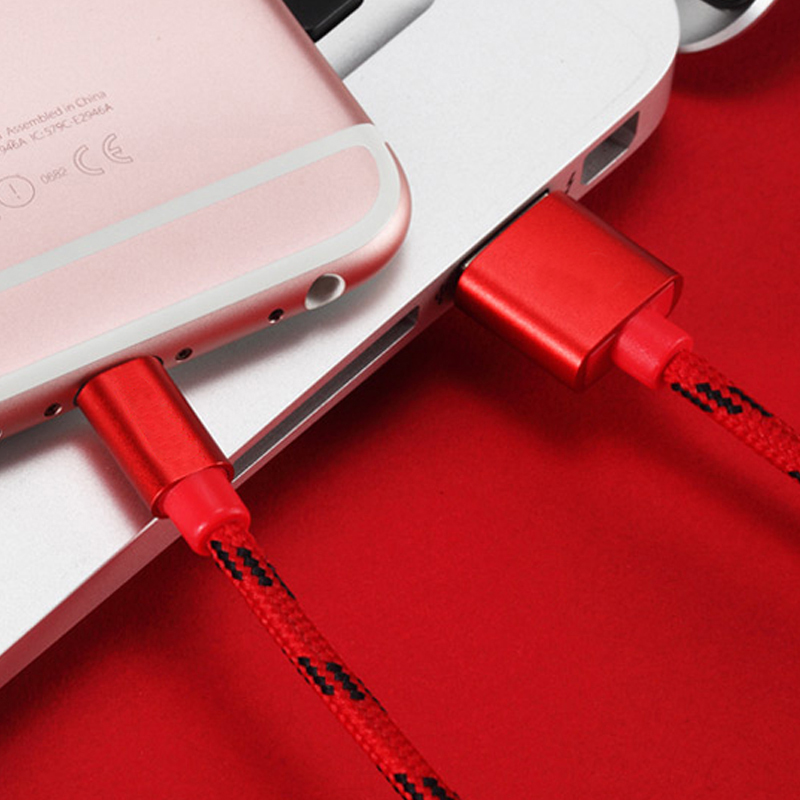 Popular Micro USB Cable Mobile Phone Type-C IOS and 5V 2A Fast Charging USB Nylon Data Cable USB Micro Transferring Charger