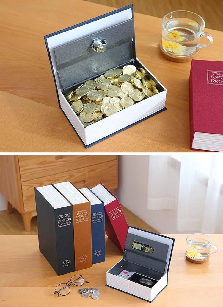 Wholesale Hollow Book Hidden Money Cash Box Book Safe with lock