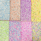 2020 Wholesale Shiny ceramics chunky glitter faux leather fabric for hair bow