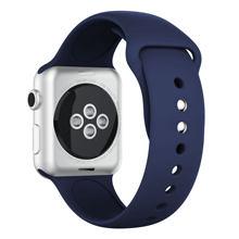 Ремешок для часов, спортивный для Apple watch 5/4/3/2, 42/38/44 мм, мягкая силиконовая лента(Китай)