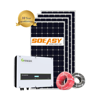 SOEASY Factory Solar Energy System Price On Grid System 1KW 3KW 5KW Roof On Grid Solar Panel Kit