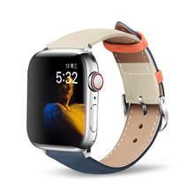 Ремешок для часов Apple Watch 5, 4, 40, 44, 38, 42 мм, спортивный кожаный ремешок для Iwatch Series 3, 2, 1, аксессуары(Китай)