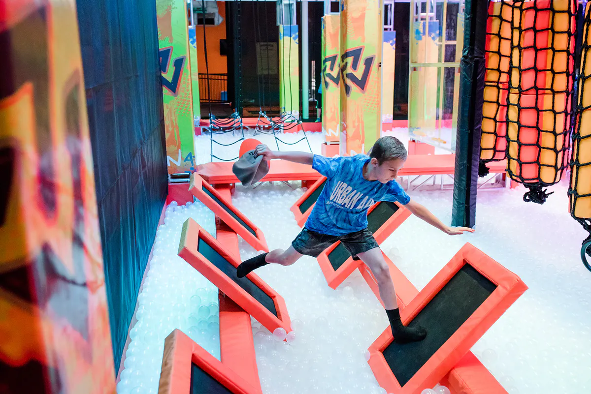 Indoor ninja warrior obstacle course China product wholesale adults kids ninja warrior course playground