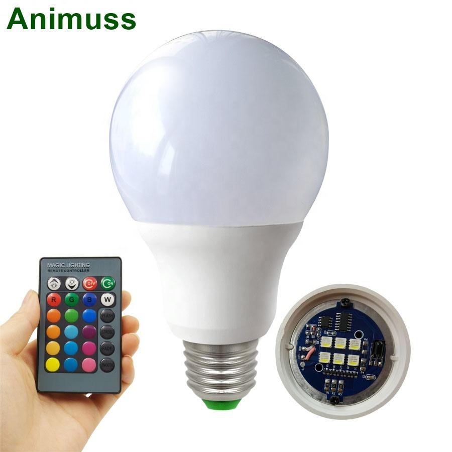 E27 RGB LED Bulb 3W 5W 7W 9W 110V 220V LEDs Lamp RGB Light Bulb Spot 24Key IR Remote Control Home Christmas Decoration
