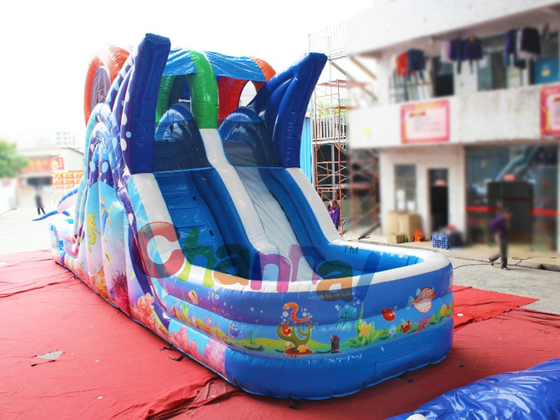 Sea theme  inflatable water slide home/rental use water slides inflatable for toddlers