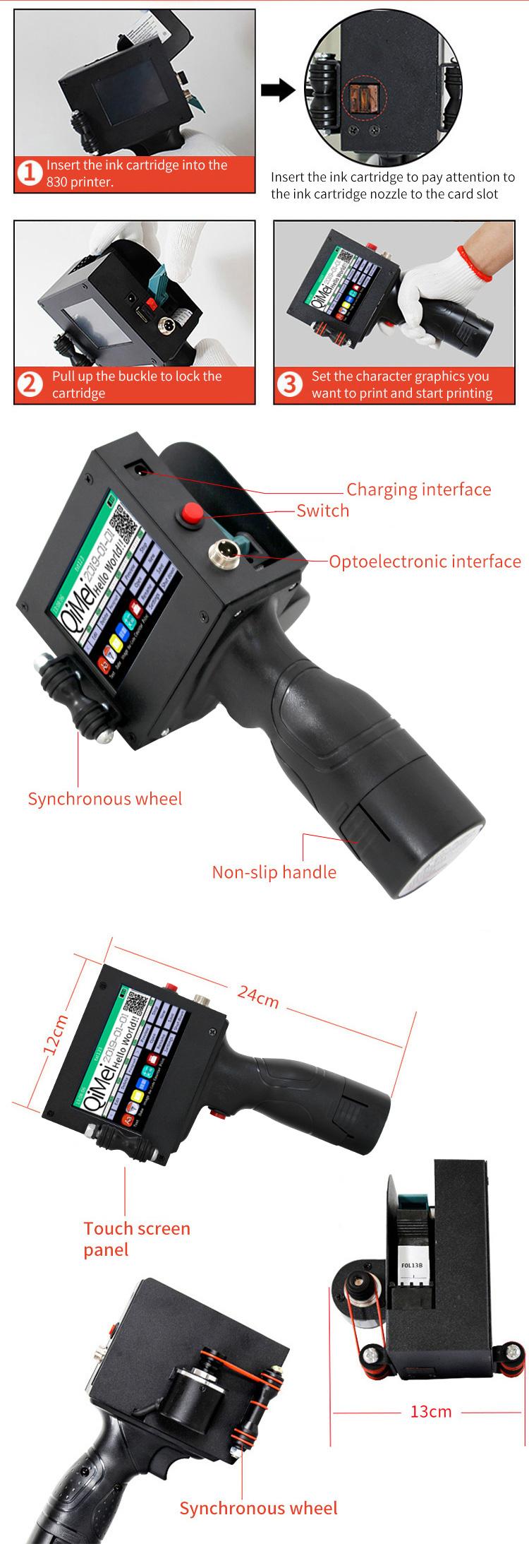 Cheaper manual coder/hand batch number printer/handheld inkjet coding marking machine