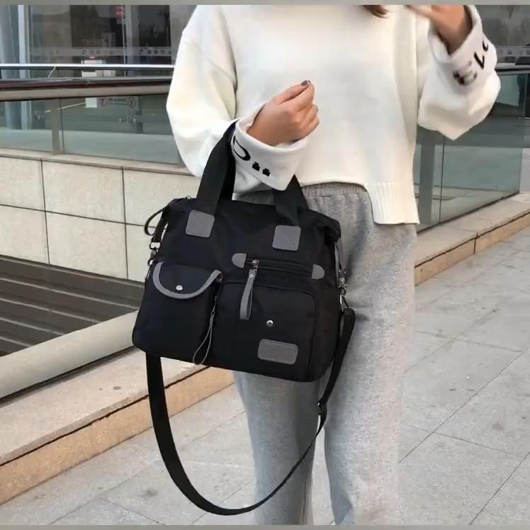 New lady nylonr bag custom logo Waterproof hand bags for women