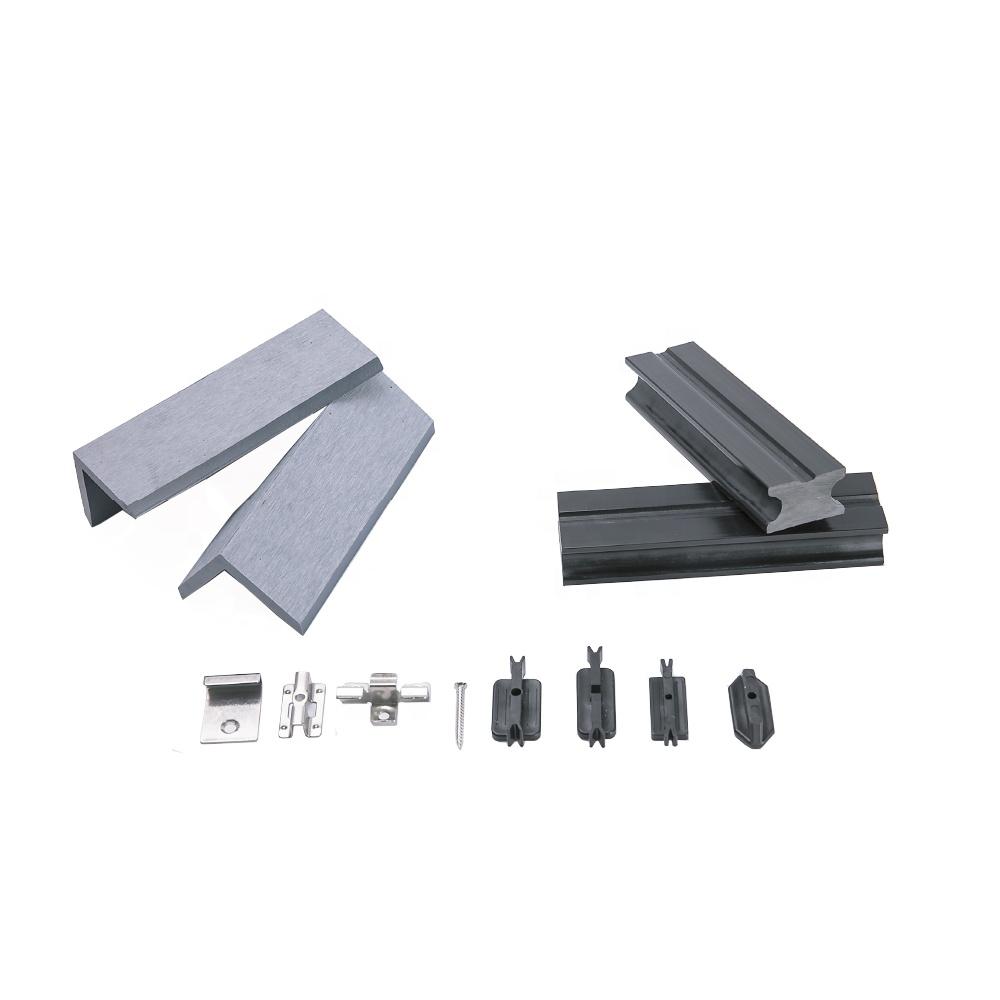 Di plastica di legno composito outdoor decking accessori in plastica in acciaio inox nascosta fastener wpc deck clip