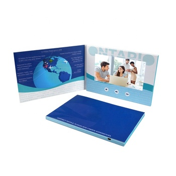 customized softcover video player 7 inch display mp4 lcd brochure advertising video greeting card in print for business