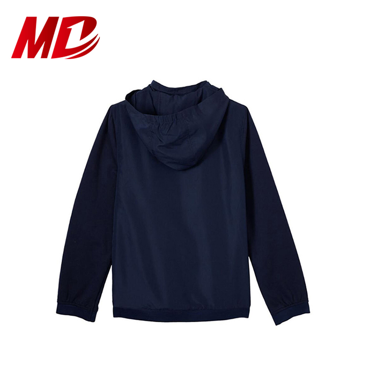 100% Polyester High School Full Zip Hooded Jacket,Children Outerwear