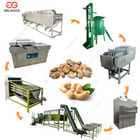500kg/h Automatic Cashew Shelling Production Line Roasting Plant Cashew Nut Processing Machine