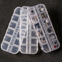 Xiaopu New Style Rhinestone Plastic Storage Case Plastic Mini Nail Art Transparent Clear Empty Pot Case for Nail Art Beads Case