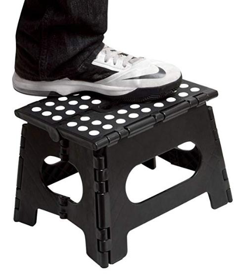 high quality 300LBS Black Plastic Folding Step Stool