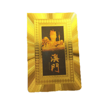 GS-18006 Wholesale Custom DesignPVC Plastic Gold Foil Playing Card Poker