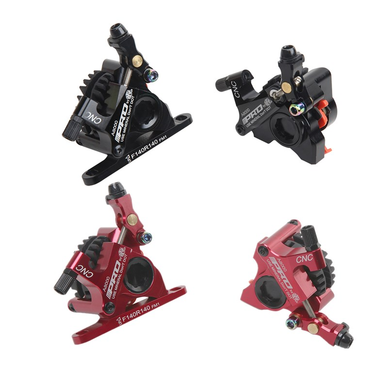 Road Hydraulic disc brakes set Flat Mount Calipers with 140MM discs rotor  Bicycle Bilateral Mechanical Cable road brake Clamps