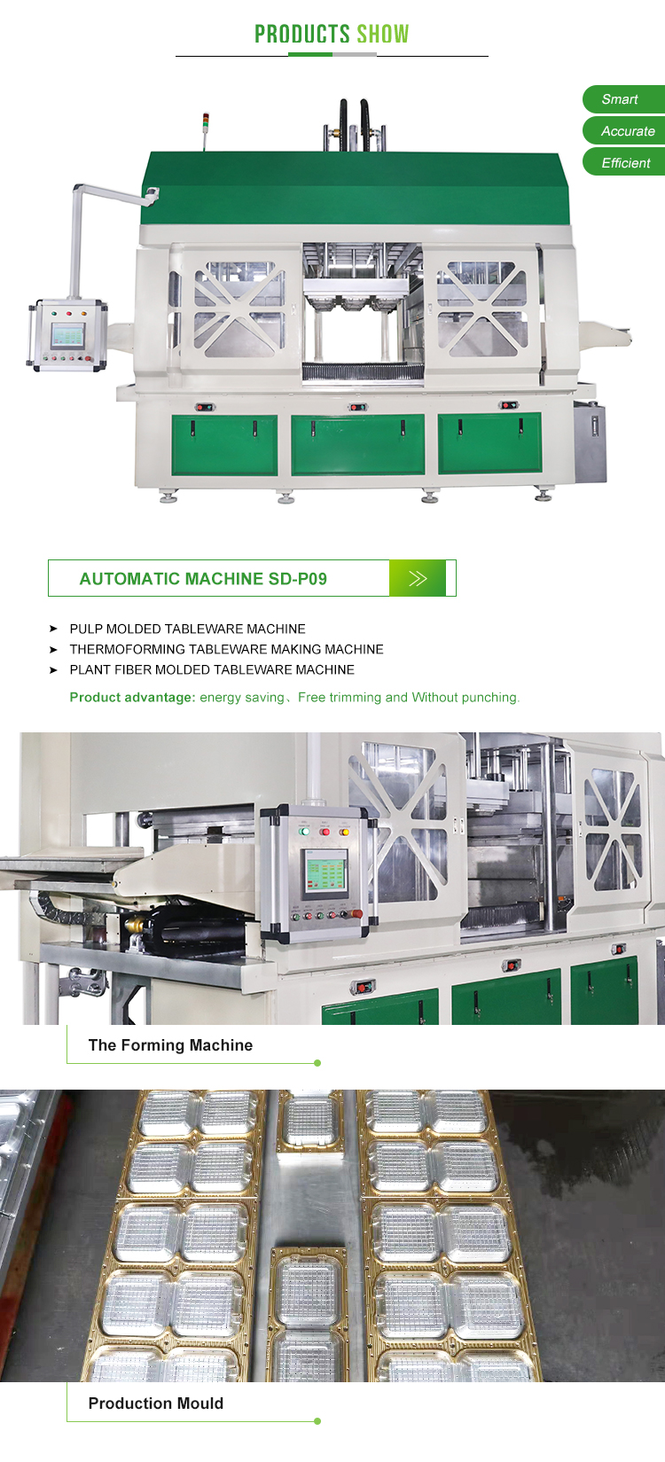 Full Automatic Molded Pulp Machine Bagasse Tableware Production Line