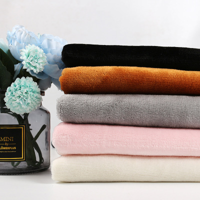 OEM ODM Factory colorful polyester  bonded flannel fabric for winter cloth