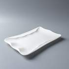 12-16 inch Chinese factory most selling product Restaurant hotel Creative Rectangular plate Bavaria porcelain holiday dinnerware
