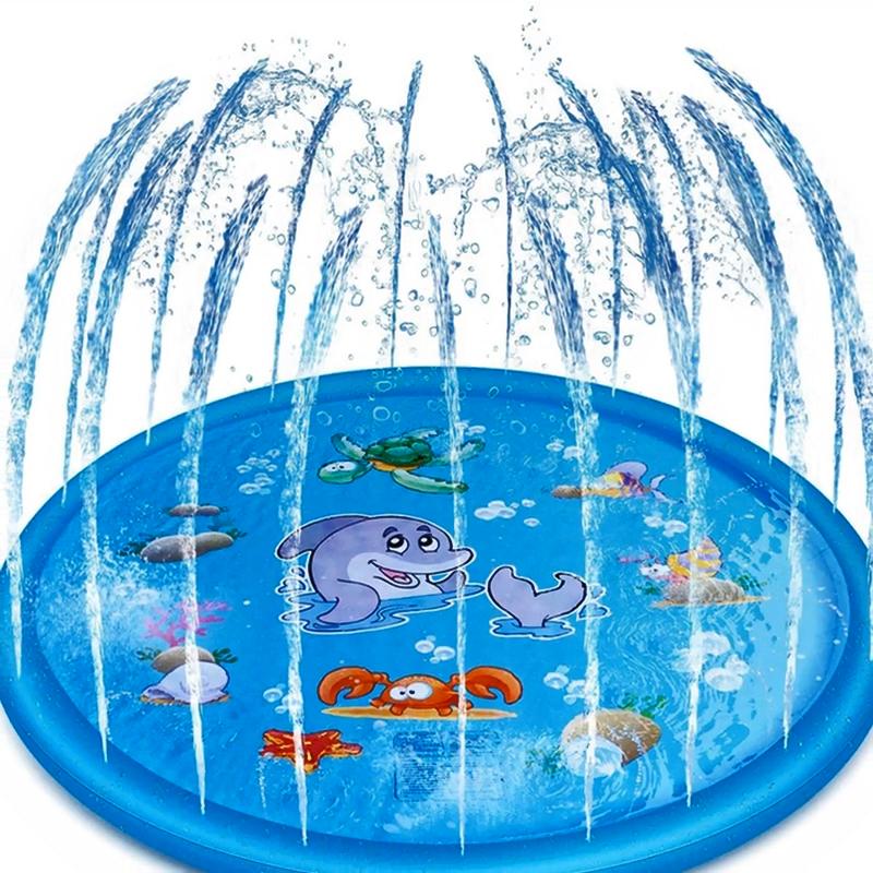 PVC Children Splash Toy Toddlers Water Game Mat Shark Sprinkler Play Mat For Infant