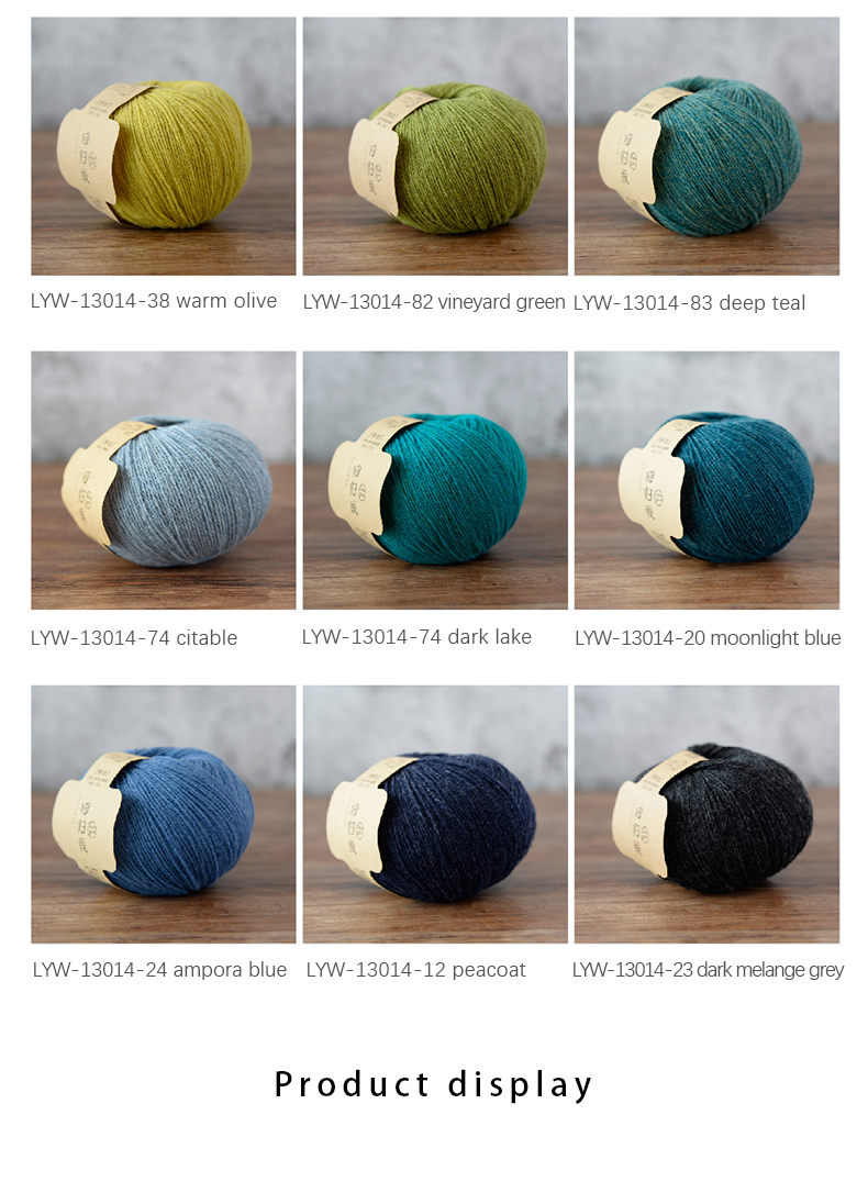 WOOLLAND6  Pure wool handmade yarn DIY knitting Crochet Wool yarn  thread for making scarf clothes fine