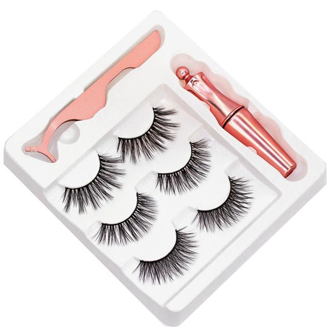 मिंक मात्रा lashes मामले दर्पण बरौनी पैकेजिंग के साथ बड़ी बॉक्स