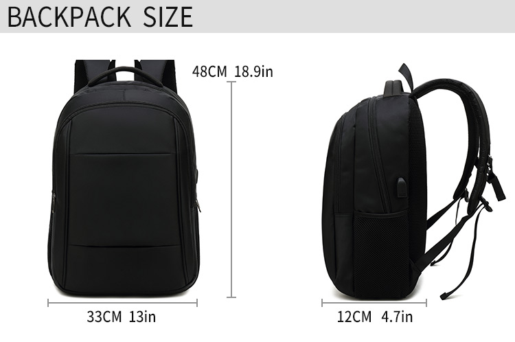 Waterproof Business Travel Laptop Backpack With usb College School Computer Backpack