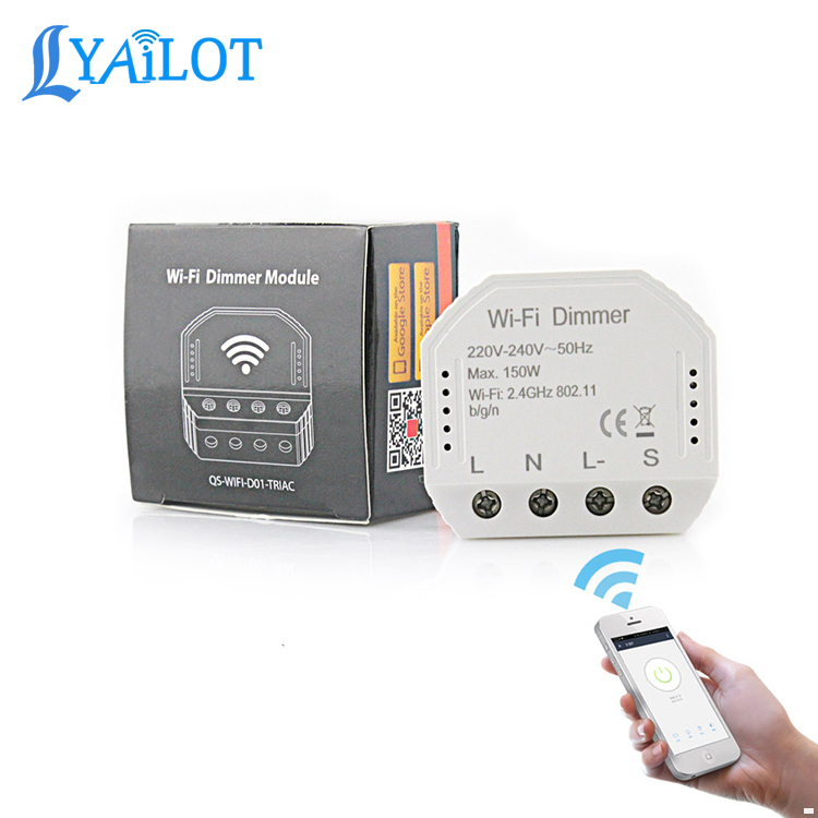 Smart Life/Tuya APP Remote Control 2 Way Wifi Smart Light LED Dimmer Switch module