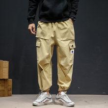 JIUBL мужские уличные брюки карго 2020 Осенние Хип-хоп бегунов Брюки Комбинезоны черные модные мешковатые с карманами брюки(Китай)