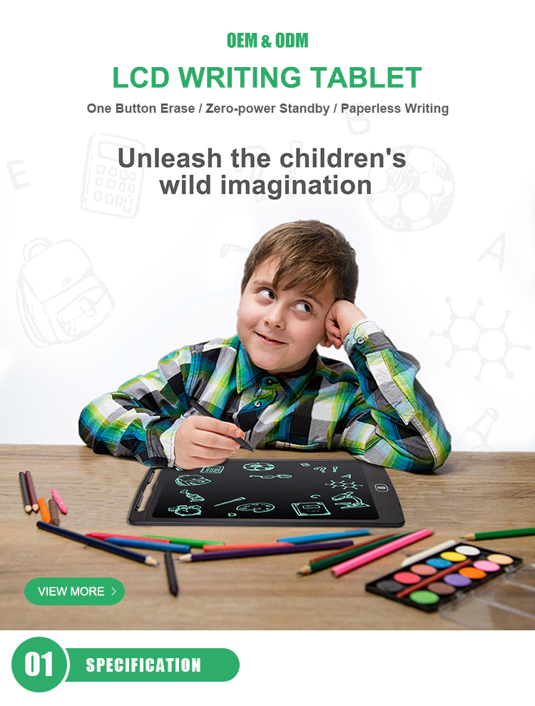 Rewritten Digital Handwriting Pad Electronic Kids Magic Writing Board Paperless LCD Drawing Tablet