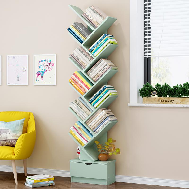 Modern floor tree shaped creative wooden book shelf bookcases book storage cabinet