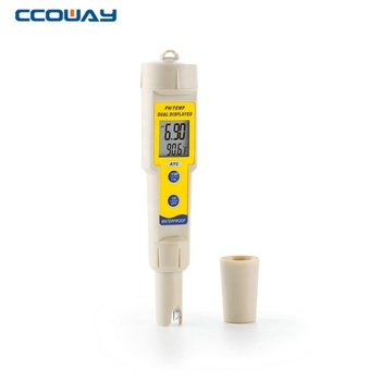 automatic calibrate waterproof hydroponics aquaculture ph temp meter
