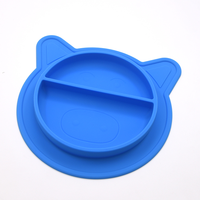 BPA free Safe Toddler Round Kid child suction Divided Silicone Child Feeding Plate with Suction