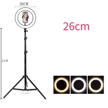 26 Cm Led <span class=keywords><strong>Ring</strong></span> <span class=keywords><strong>Licht</strong></span> Fotografie Kit Photo Studio Camera <span class=keywords><strong>Licht</strong></span> Makeup Video Selfie Vullen Lamp Met Telefoon Clip Houder & Statief