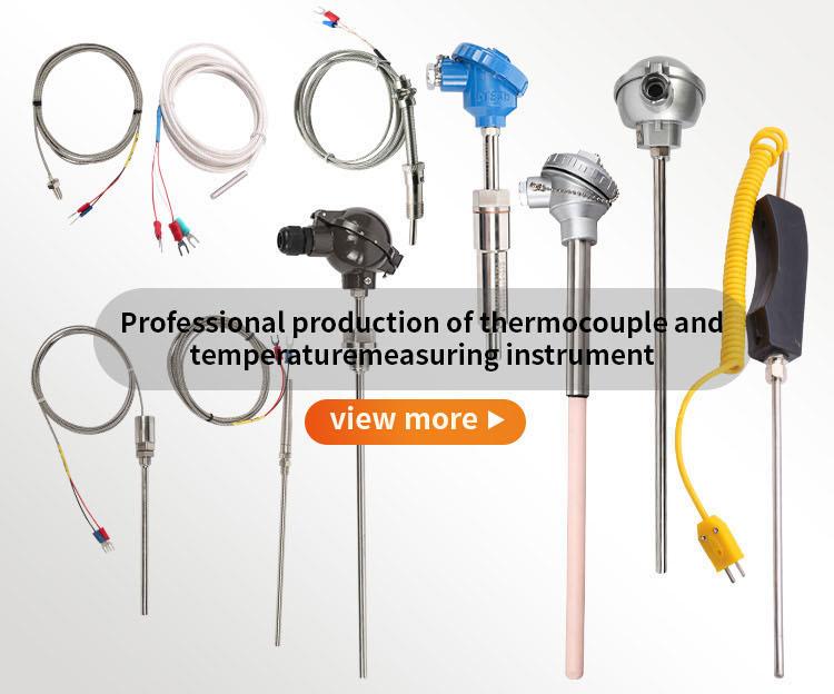 سلك محمي مخصص التحقيق pt100 E J K نوع استشعار درجة الحرارة الحرارية حربة