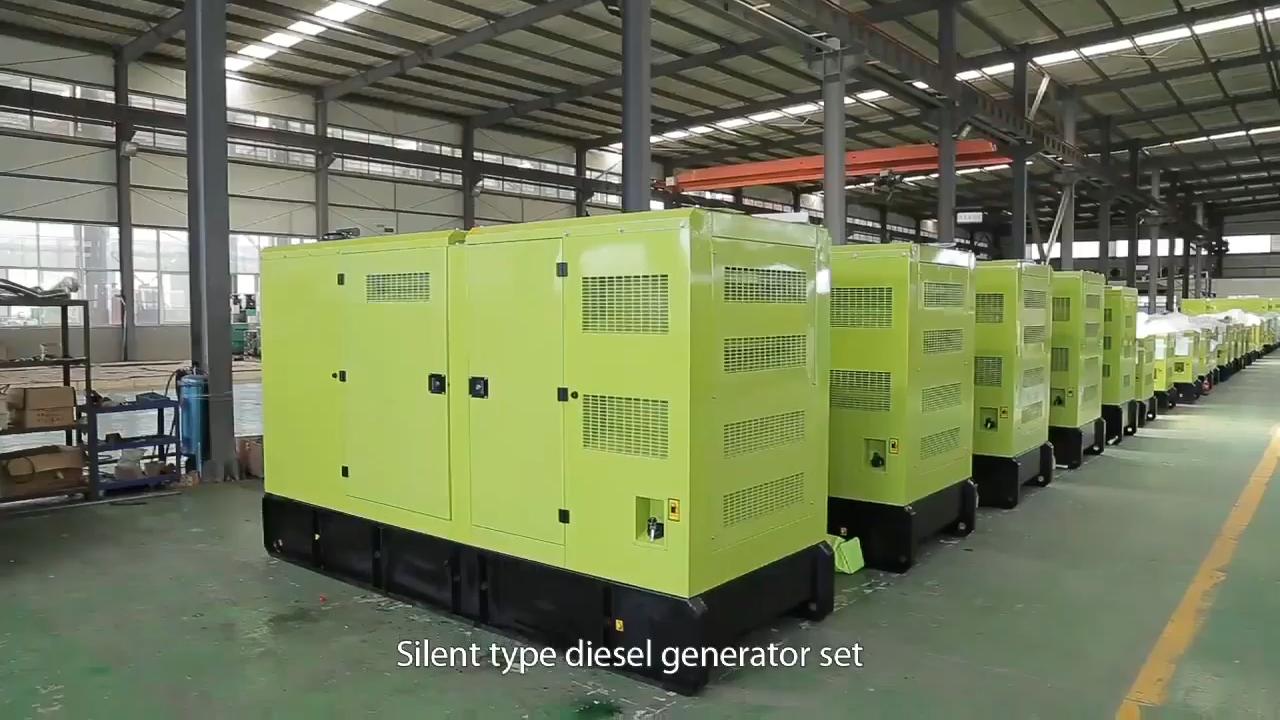 AC חשמלי צמח 80 kw דיזל כוח מנוע שקט גנרטור 100 kva