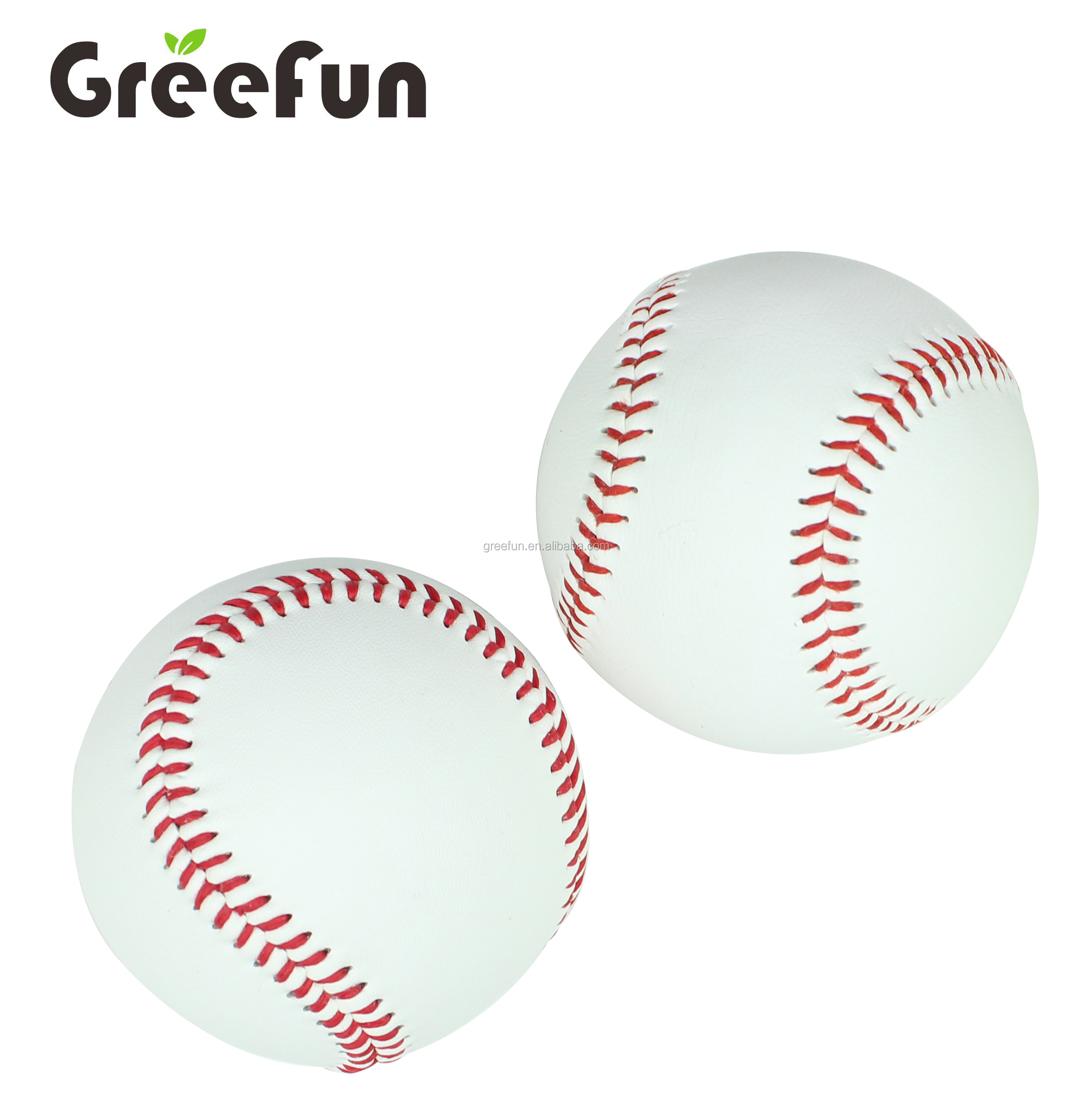 Wholesale Good Quality Leather and PVC Softball Custom Soft Baseball Training Equipment Rubber Baseball For Outdoor Sports