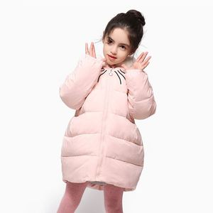 New Fashion Design Winter Outdoor Kids Warmest Branded Jackets Nice Knee Length Coats For Girls