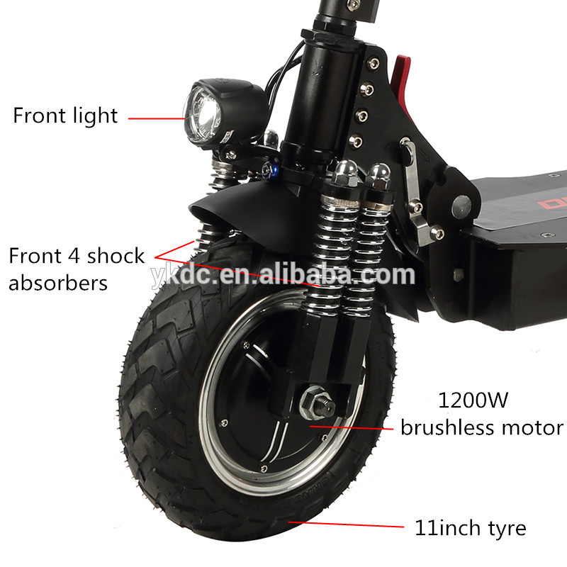 Adults 2000Watt Big Power Double Electric Scooter with Terrain Tyre Electric Vehicle