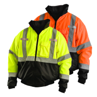 ZUJA Fluorescent Yellow Custom Logo Printed Safety Reflective Luminous Jacket