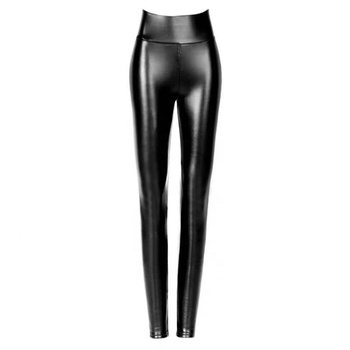 Hot sale high stretch women patent leather pants
